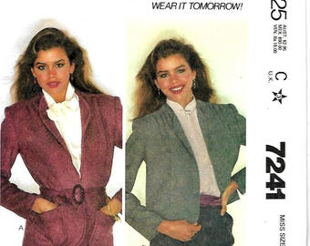 McCall's 7241 Make It Tonight Misses Jacket Pattern, Size 18-20, UNCUT