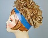 Floral Turban / Vtg 50s /...