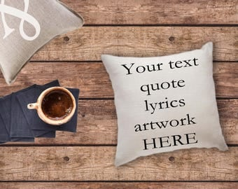 Personalize pillow with letter, number, name, quote, gift for her, song lyrics pillow, custom pillow, accent pillows