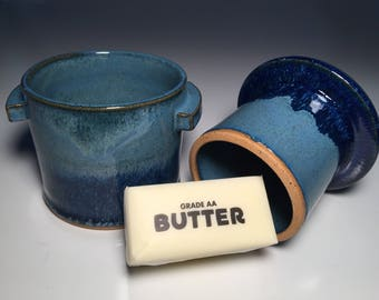 French Butter Keeper-Home Decor-Gift-Gift for Mom-Gift for Women-Wedding Gift-Housewarming Gift-Kitchen Decor-Pottery-Foodie Gift-ButterDish