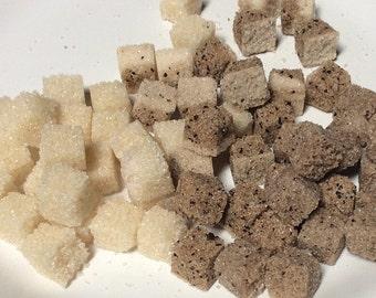 COFFEE and VANILLA 160 Sugar Cubes for Coffee Lovers Gift, Weddings, Coffee Bars, Coffee Service