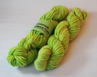 Lime Green Pastel Chunky Single Ply Wool Yarn 50g