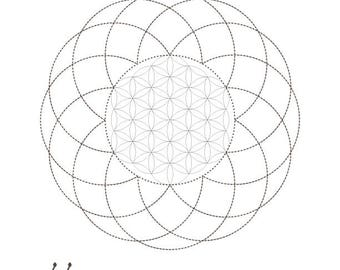 Kabbalah Art Sacred Geometry Coloring Book-Energy Healing