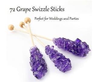 Purple Grape Rock Candy Swizzle Sticks