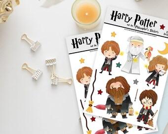 Stickers / Harry Potter Stickers / Harry Potter, Hermione Granger, Ron Weasley / Albus Dumbledore, Hagrid, Fawkes / Wizard Stickers / Magic