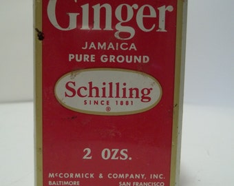 Vintage Shilling Ginger Jamaica Pure Ground Tin