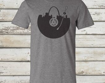 STL Record T-Shirt - STL City Shirt by Benton Park Prints, St Louis, Saint Louis