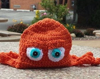 Hank Hat; Inspired by Hank from Finding Dory Hat; Octopus Hat; character hat; photo prop; newborn, toddler, child hank, hank photo prop,