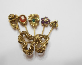 Vintage Unsigned Goldette Snake Brooch (3480)