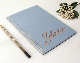 Custom Journal. Personalized Journal. Custom Name Notebook. Customized Notebook. Personalized Gift for Him. Minimal Mens Journal. Men's Gift