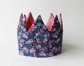 reversible party Crown birthday hat- roses