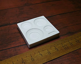 Mold/mould Dollhouse Miniature 1/12 Round Plate Japanese Style