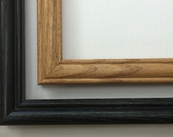 8x10 Wood Picture Frame, Oak Picture Frame, Black Frame, Photo Frame