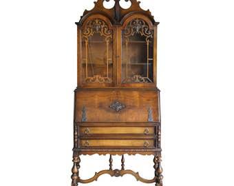 Antique Secretary Desk / Desk / Secretary Desk / Vintage Secretary Desk