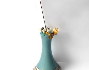 Vintage Hatpin holder plus NINE Hatpins Instant Collection