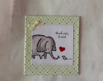 Cute Friend Fridge Magnet Girl Gift Quirky Fridge Magnet Elephant & Mouse
