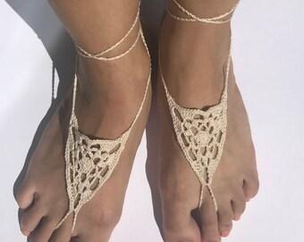 Triangle Barefoot Sandals / Slave Bracelet