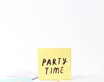 Multi Color Pastel Rose Gold Typographic Paper Napkins- Meri Meri - Party Decor - Wedding - Baby Shower- Tableware - Spring - Summer