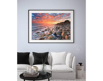 large beach wall art rhode island photography extra large wall art seascape wall