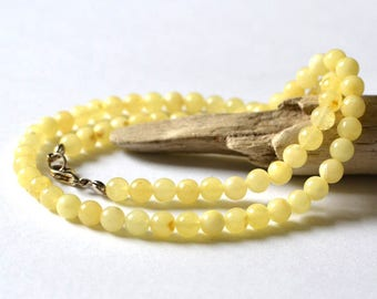 100% Natural Untreated Baltic Amber Necklace / Natural White Amber Necklace