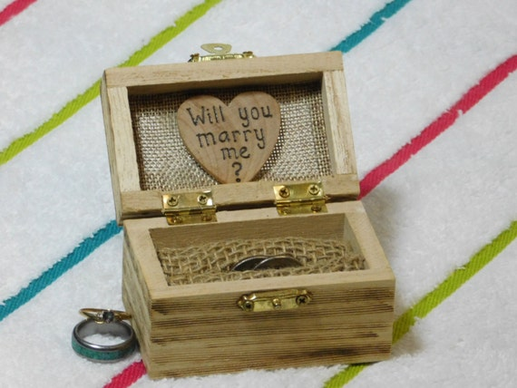 proposal ring box will you marry me ring box wedding ring