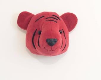 Faux taxidermy head baby tiger cub wall decor animal head cicus animal