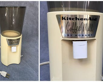 70's Kitchen Aid by Hobart Burr Coffee Mill Electric Coffee Espresso Grinder