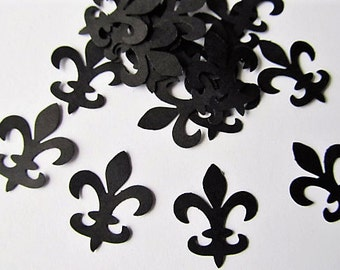 Set of 100 Fleur De Lis punch die cut confetti embellishments