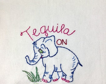 Tequila on Friday Happy Housewife Dish Towel