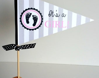 It's a Girl Centerpiece Baby Shower Decor Party Table Centerpiece Graduation Party Centerpiece Girl Birthday Party Decor Bridal Shower Decor