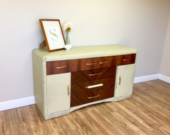 Vintage Credenza - Art Deco Buffet Sideboard - Dining Room Buffet -TV Media Console - Antique Buffet Table - Media Cabinet Trendy Furniture