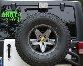 Proud Military Wife Car Decal, Navy Army Wife Car Sticker | LOTS of Colors | Customization available!