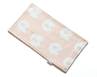 SALE || Burp Cloth || Ele Pink || Fleece Backing