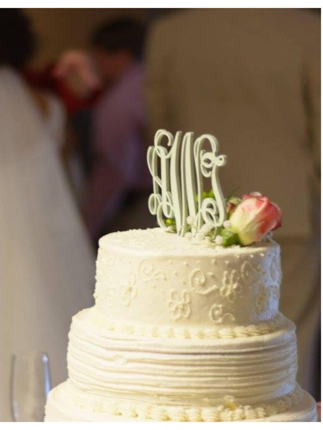 Wedding Cake Topper Cake Topper Monogram by inscribedmonograms