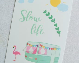 "Card ""Slow life"""