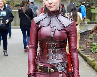 Mord'Sith Costume Replica Leather Armor and Catsuit Legend of the Seeker Cosplay Handmade Renfaire ComicCon Halloween DragonCon