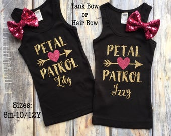 Flower Girl Shirt, Flower Girl Dress, Petal Patrol Shirts, Bridal Party shirts, Flower Girls Gift, Flower Girl Outfit, Flower Girl Basket