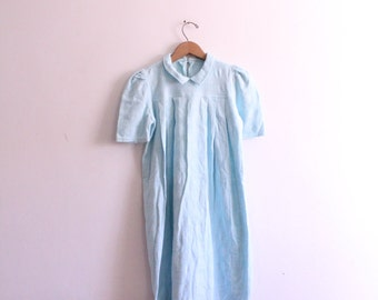 Pale Blue Babydoll Mini Dress