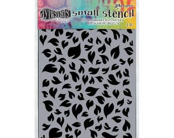 """Dyan Reaveley's Dylusions Stencils 5""""X8""""  small groovy leaves design perfect for mixed media, scrapbooking, journaling and so much more"""