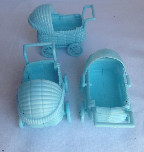 Plastic Baby Carriage Cake Topper