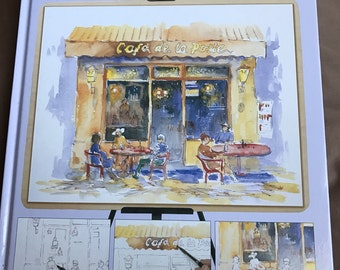 Watercolors: a step by step guide, art instruction book, how to tutorial