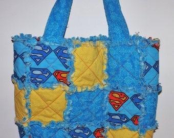 Superman Rag Quilt Bag