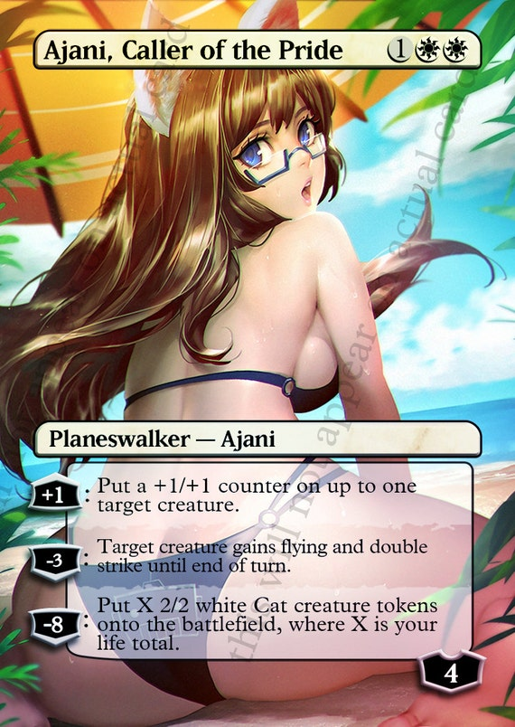 Ajani Caller of the Pride For Magic Casual Play Only MTG