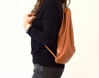 """Leather Backpack """" Roomy """" - several colors"""
