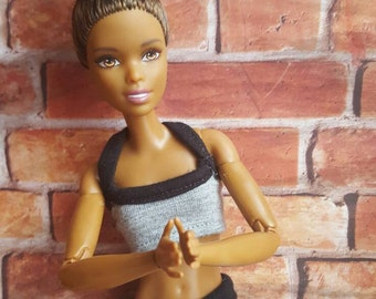 Yoga Outfit for 12 inch made to move doll