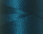 Teal, Silk Machine Threads, 100% Mulberry Silk, Plain Dyed, Luxury Silk Threads, Spun Silk, Solid Colours, 300m, 325yds