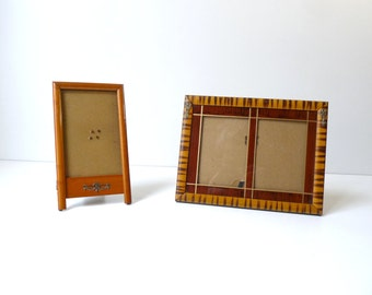 Art Deco Picture Frames French Antique Wooden Photo Frames Set of 2 Table photos Frames Home Decor