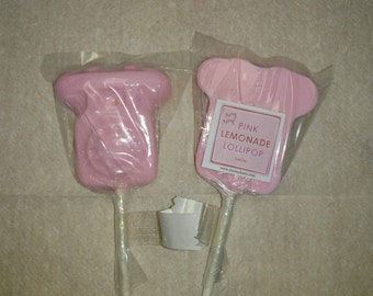 1 dz Hard Candy Telephone Shaped Lollipop Party Favors w/ Personalized Back Labels