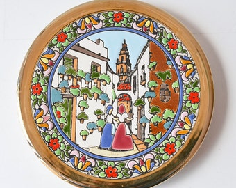 Handmade Spanish ceramic decorative plate