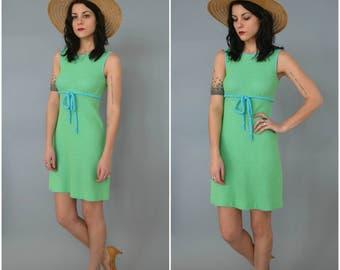 1960s sleeveless knit mini dress